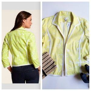 NWT Chico's | Optic Floral Jacket, Ceylon Yellow
